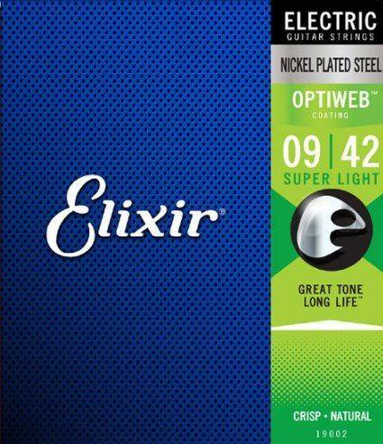 Elixir 19002 Optiweb Super Light 9-42 - Struny do gitary elektrycznej